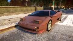 1990 Lamborghini Diablo v1.1 para GTA 4