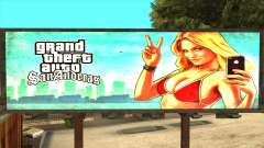GTA 5 Girl Poster Billboard para GTA San Andreas
