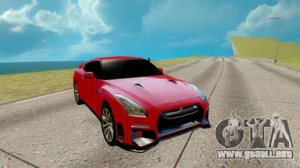 Nissan GTR Nismo rojo para GTA San Andreas