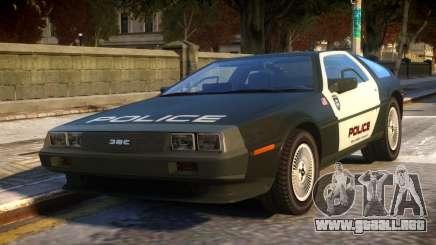 DeLorean DMC-12 Police para GTA 4