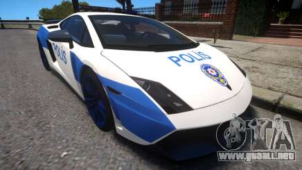Lamborghini Gallardo LP570-4 2011 Turkey Police para GTA 4