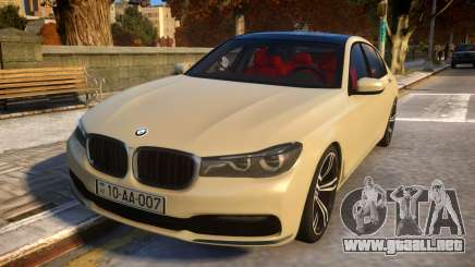 2016 BMW 7-series G12 Long para GTA 4