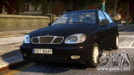 Daewoo Lanos Sedan SX PL 1997 para GTA 4