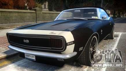 Chevrolet Camaro Mk.I 1968 Wheel EPM v1.0 para GTA 4