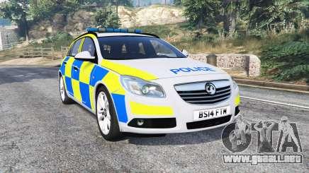 Vauxhall Insignia Tourer Police v1.1 [replace] para GTA 5