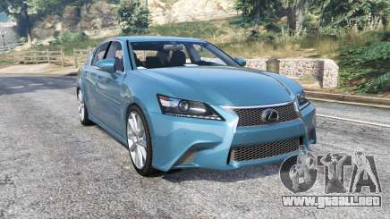 Lexus GS 350 F-Sport 2013 v1.1 [replace] para GTA 5