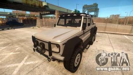 Benefactor Dubsta 6x6 para GTA 4