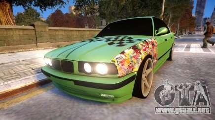 BMW M5 E34 Monster vs Turbo Style para GTA 4