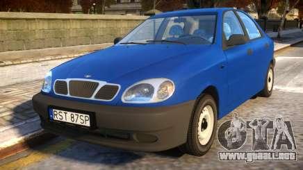 Daewoo Lanos Sedan S PL 1997 para GTA 4