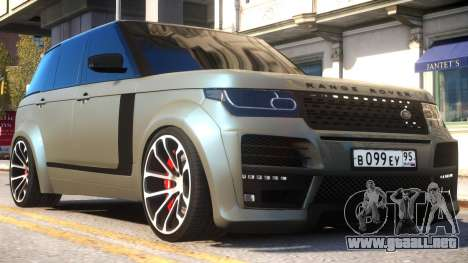 Range Rover Vogue Tuning para GTA 4 vista interior