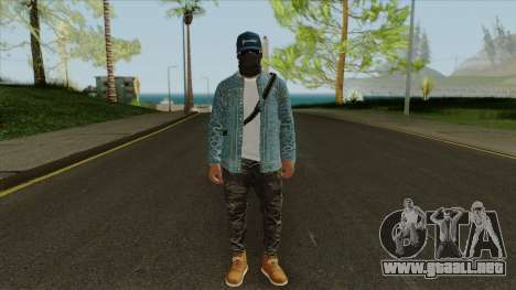 Marcus Holloway - Watch Dogs GTA Online Cosplay para GTA San Andreas segunda pantalla