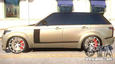 Range Rover Vogue Tuning para GTA 4 left