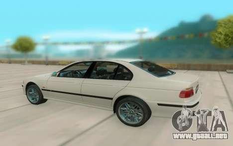 El BMW M5 E39 para la visión correcta GTA San Andreas
