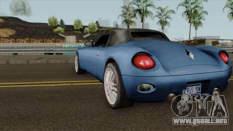 Stinger HD para GTA San Andreas vista posterior izquierda