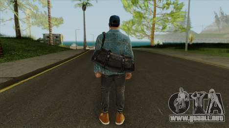 Marcus Holloway - Watch Dogs GTA Online Cosplay para GTA San Andreas tercera pantalla