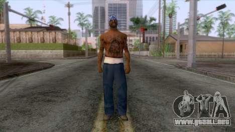 Crips & Bloods Fam Skin 6 para GTA San Andreas