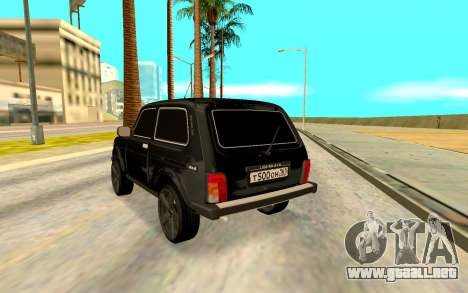 Lada Niva para GTA San Andreas vista posterior izquierda