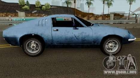 Puma GTE para GTA San Andreas vista hacia atrás