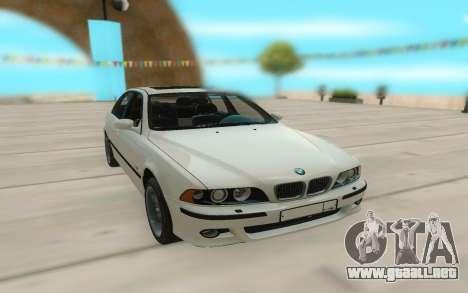 El BMW M5 E39 para GTA San Andreas vista hacia atrás