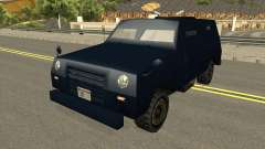 FBI Truck Civil No Paintable para GTA San Andreas