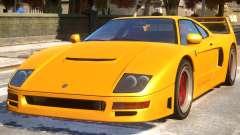 Grotti Turismo Classic Revision F40 Rims para GTA 4