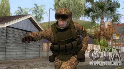 German Army Soldier Skin para GTA San Andreas