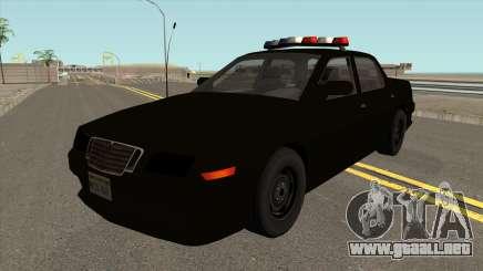 El coche de la Policía de la 2º Nivel de Seguimiento de NFS MW v2 para GTA San Andreas