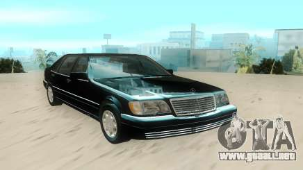 Mercedes-Benz W140 S600 Stock para GTA San Andreas