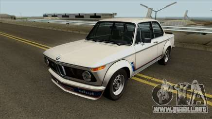 BMW 2002 Turbo (E10) 1973 para GTA San Andreas