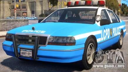 Declasse Premier Police Cruiser para GTA 4
