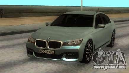 BMW 750i Xdrive para GTA San Andreas