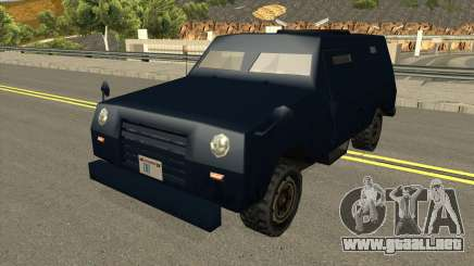 FBI Truck Civil No Paintable para GTA San Andreas