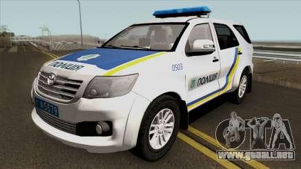 Toyota Fortuner De La Policía De Ucrania para GTA San Andreas