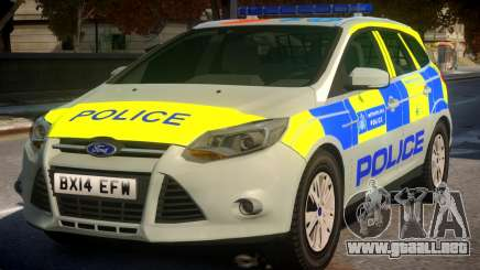 Police Ford Focus Estate IRV TFL Version para GTA 4