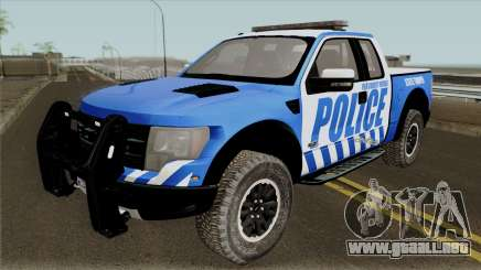 Ford F-150 Raptor 2016 Red County Police para GTA San Andreas