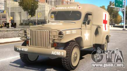 World War II Ambulance para GTA 4