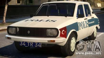 Renault 12 Turkish Police v.2 para GTA 4