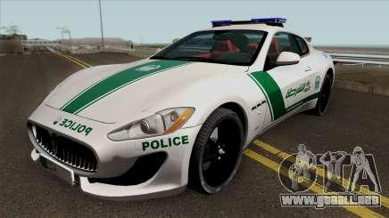 Maserati Gran Turismo Dubai Police 2013 para GTA San Andreas
