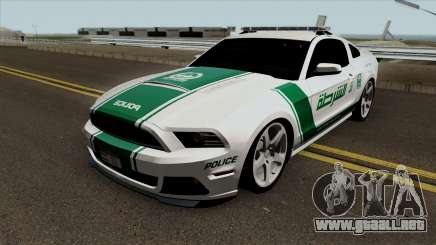 Ford Mustang Shelbi GT 500 2013 Dubai Police para GTA San Andreas