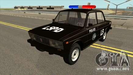 VAZ 2106 SA Style Police para GTA San Andreas