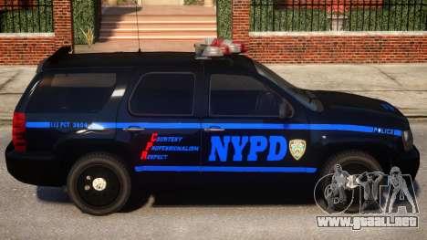 NYPD Police Tahoe [ELS] para GTA 4