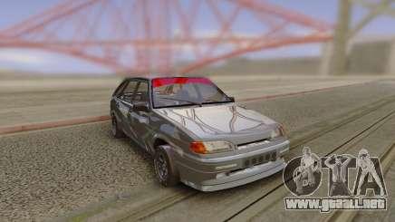 VAZ 2114 de Camuflaje Gris para GTA San Andreas