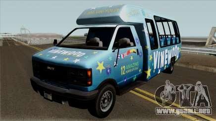 Brute Tour Bus GTA V para GTA San Andreas