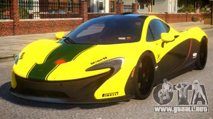 2014 McLaren P1 Harrods GTR para GTA 4