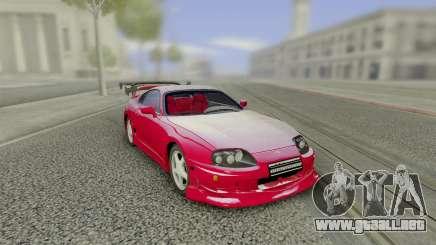 Toyota Supra Tuning Red with Spoiler para GTA San Andreas