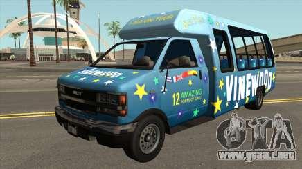 Brute Tour Bus GTA V IVF para GTA San Andreas