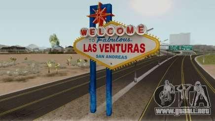 Welcome Las Venturas Sign Remastered Final para GTA San Andreas