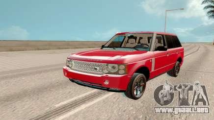Land Rover Range Rover Tuning para GTA San Andreas