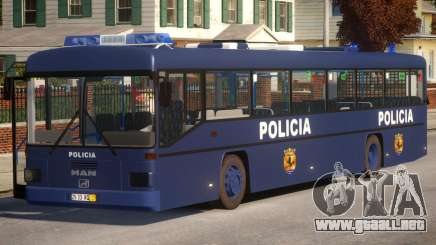 N1 Europe Police Bus Mod MAN 202 para GTA 4