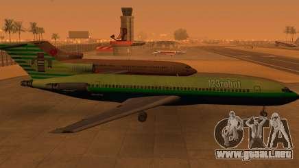 Boeing 727-200: 123robot edición para GTA San Andreas